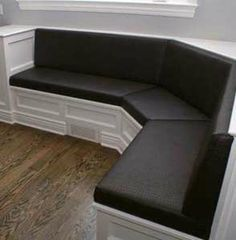 Upholstered Banquette in Chicago Suburbs, Dupage Illinois in Alligator Faux Leather Upholstery from Spiritcraft Design in Crystal Lake, Barrington and Lake Geneva