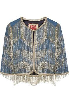 Finds - + CeliaB embellished cropped denim jacket