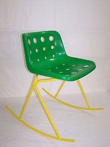 VINTAGE RETRO ALPHA 1 ROCKING CHAIR ROBIN DAY HILLE POLO PLASTIC SEAT 70s 80s | eBay