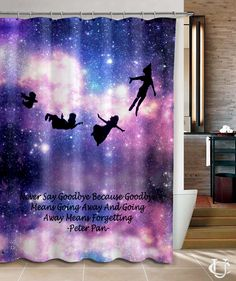 Peter Pan quotes Love Pretty Shower Curtain