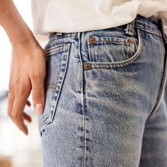 """There's no better foundation for any outfit than an exceptional pair of jeans."" -  Emma Morrison, @VogueMagazine Associate Market Editor.  Get the look without the trip to the tailor by tapping the link in our bio. #501CT"