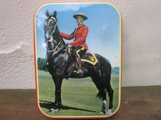Vintage Royal Canadian mounted police tin box / tin by LesCurieux