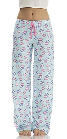636802185c Dollhouse Women s Cotton Cute Print Pajama Bottoms In Cookie Blue