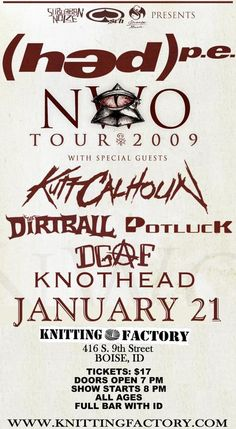 85 Best KNOTHEAD - Tour Flyers images in 2012 | Flyers