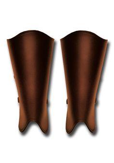 Larp Beinschienen - Abenteurer, braun von Andracor