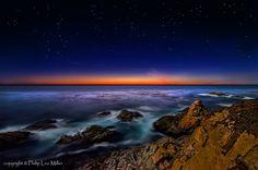 Twilight Reds  Garrapata State Reserve -- gateway to Big Sur at deep twilight