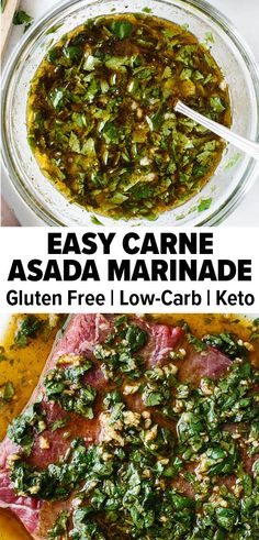 Easy Carne Asada Marinade This carne asada marinade is packed with all the essential Mexican flavors. It's zesty, spicy, and refreshing from the use of six simple ingredients. Use it for carne asada tacos, carne asada fries, and more! Carne Asada Marinade, Carne Asada Tacos Recipe, Carne Asada Fries, Beef Marinade, Carne Asada Recipes Easy, Mexican Steak Marinade, Authentic Mexican Recipes, Mexican Food Recipes, Beef Recipes
