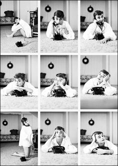 {Audrey + the phone} photographer Mark Shaw, 1953
