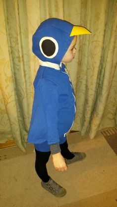 Don't let the pigeon drive the bus world book day costume. Made using a blue hooded onesie.