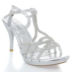 "V-Luxury Womens 32-ESSENTIAL74 Open Toe Rhinestone Strappy Stiletto High Heel Sandal Shoe, Silver PU Leather, 8.5 B (M) US. Brand: Delicacy. 4"" Heel with 0.75"" Platform. Fitment: This item tends to run slightly smaller. Material: PU Leather. Listing images were taken off actual product, however, actual color may differ slightly due to different monitor display setting."