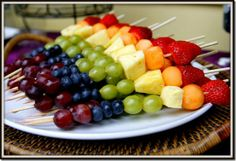 Rainbow fruit kebabs#Repin By:Pinterest++ for iPad#