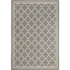 Safavieh Courtyard 31-in x 60-in Rectangular Gray Transitional Accent Rug - Lowes