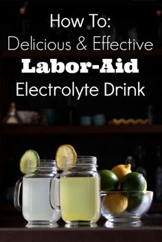Labor-Aid electrolyte cubes or drink