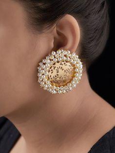 Cross Jewelry / Diamond Earrings / Tiny Diamond Cross Studs in Rose Gold / Rose Gold Earrings / Religious Jewelry Gift / Christmas Gfit - Fine Jewelry Ideas Indian Jewelry Earrings, Indian Jewelry Sets, Fancy Jewellery, Jewelry Design Earrings, Gold Earrings Designs, Gold Jewellery Design, Ear Jewelry, Stylish Jewelry, Bridal Jewelry