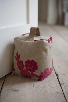 Luxury Fabric Door Stop - Flock | wowthankyou.co.uk