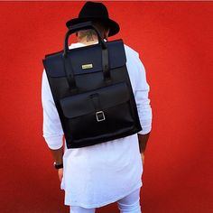 Pack your #DrMartens bag and go.  The Black Leather Backpack shared by @kellu__v  How do you wear yours? #drmartenstyle by drmartensofficial