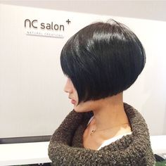 "65 Likes, 2 Comments - Raymond Z. Hair | NC Salon+ (@raymond_z) on Instagram: ""Short hair style with dark green color. #cool#shorhair#bob#asianhair #asiansalontoronto #haircolor…"""