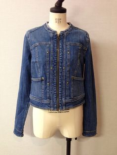 ANTHROPOLOGIE Pilcro Collarless denim jacket