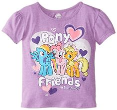 Extreme Concepts Little Girls My Little Pony Group Shot Pony Friends Forever Short Sleeve Bubble Tee @ niftywarehouse.com #NiftyWarehouse #MyLittlePony #Cartoon #Ponies #MyLittlePonies