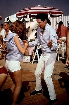 """Shelley Fabares and Elvis in """"Girl Happy"""
