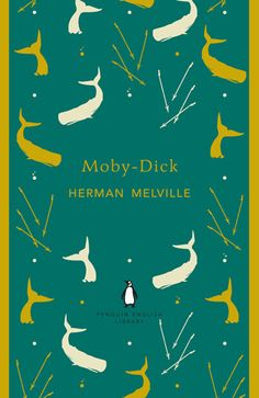 Want this! Print version of Coralie Bickford-Smith's (<3) Penguin cover for Moby Dick. £19.95