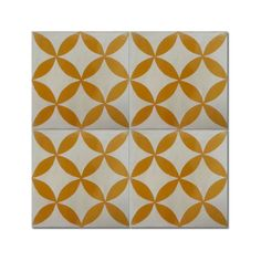 Pack of 12 Amlo White/ Yellow Handmade Cement/ Granite Moroccan Tile 8-inch x 8-inch Floor/ Wall Tile (Morocco)