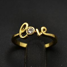 New fashion jewelry 18k GOLD plated love finger ring for women mix color wholesale R694-ZZKKO ✿. ☺  ☺