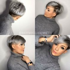 One of the most popular haircuts in 2016 is short hair. It is one Short Grey Hair Hair Haircuts Popular Short Undercut Hairstyles Women, Pixie Hairstyles, Hairstyle Short, Short Gray Hairstyles, Ladies Hairstyles, Undercut Pixie, Style Hairstyle, Hairstyles 2018, Short Hair Cuts For Women