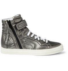 Pierre HardyMetallic Leather High Top Sneakers