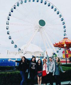 Kat, Natasha, Zoë, Sasha, Jesse, and Christine in Divergentland a.k.a. Chicago for BEA/Bookcon 2016!!