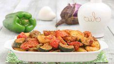 Assiette de légumes colorés marinés au four, tellement appétissants - Recettes Faciles Potato Salad, Good Food, Potatoes, Chicken, Meat, Ethnic Recipes, Solution, Paris, Google