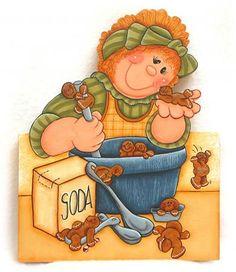 Doll making gingerbread men 78001551_K22.jpg (390×450)
