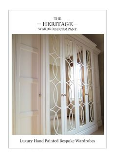 Bespoke Wardrobe Brochure - Collection of stunning wardrobe designs with mirror chic fret doors combined with traditional elegance.
