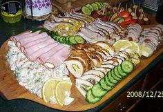 Other Recipes, Meat Recipes, Cooking Recipes, Cold Dishes, Party Finger Foods, Hungarian Recipes, Hungarian Food, Food Platters, Winter Food
