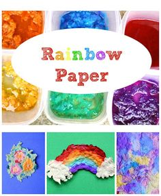 Easy homemade paper-making technique that uses up old crepe paper.  Colorful results!