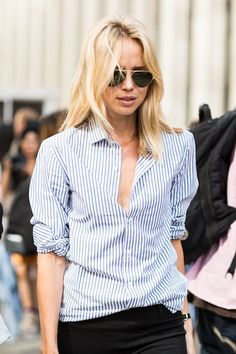The Striped Button Down