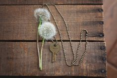 wish key necklace | hand stamped vintage