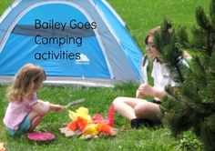 Make a story come to life:  pretend camping for Bailey Goes Camping by Kevin Henkes