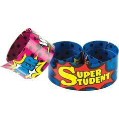 Find Superhero Super Student Slap Bracelets, 6 Packs at Michaels. Slap bracelets fit most wrist sizes and are a fun way to reward good behavior or build awareness for special events. Superhero Classroom Decorations, Classroom Themes, Autism Classroom, Future Classroom, Slap Bracelets, Hero Bulletin Board, Caught Being Good, Super Hero Games