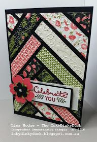 In my previous post you got to see one of the cards that we made at my Easy Cards Class using up paper with the hexagon punch. Here is th...