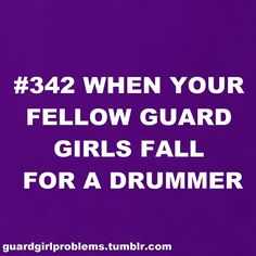 because guard girls and drumline boys belong together... Is this not so true?!?! :) @Kendra Adamson @Kari Manning @Bailey Peavler