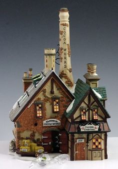 Dept. 56 Dickens Village Glendun Cocoa Works 58478 in Box Retired