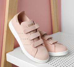 Stan Smith scratch rose et beige