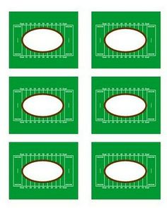 super bowl placecards free printable at Lizard and Ladybug