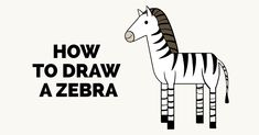 Learn to draw a fun zebra. This step-by-step tutorial makes it easy. Kids and beginners alike can now draw a great looking zebra. Zebra Drawing, Zebra Painting, Baby Animal Drawings, Cartoon Drawings Of Animals, Draw Animals, Nature Drawing Pictures, Pictures To Draw, Zebra Clipart, Zebra Cartoon