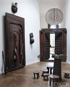 African doors and furniture