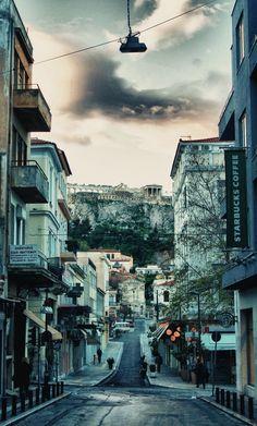 Below the Acropolis, Athens Greece