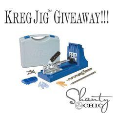 Kreg Jig Giveaway at Shanty2Chic!!