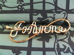 Victorian Gold Wire Name Pin from Refined Vintage at Artfire.