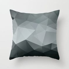 Geometric Throw Pillow Cover Black and White Modern Polygon Pattern on Etsy, $34.00